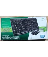 New Logitech Media Combo MK200 Keyboard and Mouse Optical wired - $28.49
