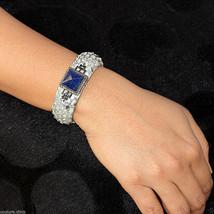 Lapis Gemstone Diamond 925 Sterling Silver Stingray Cuff Bangle Silver J... - $284.52