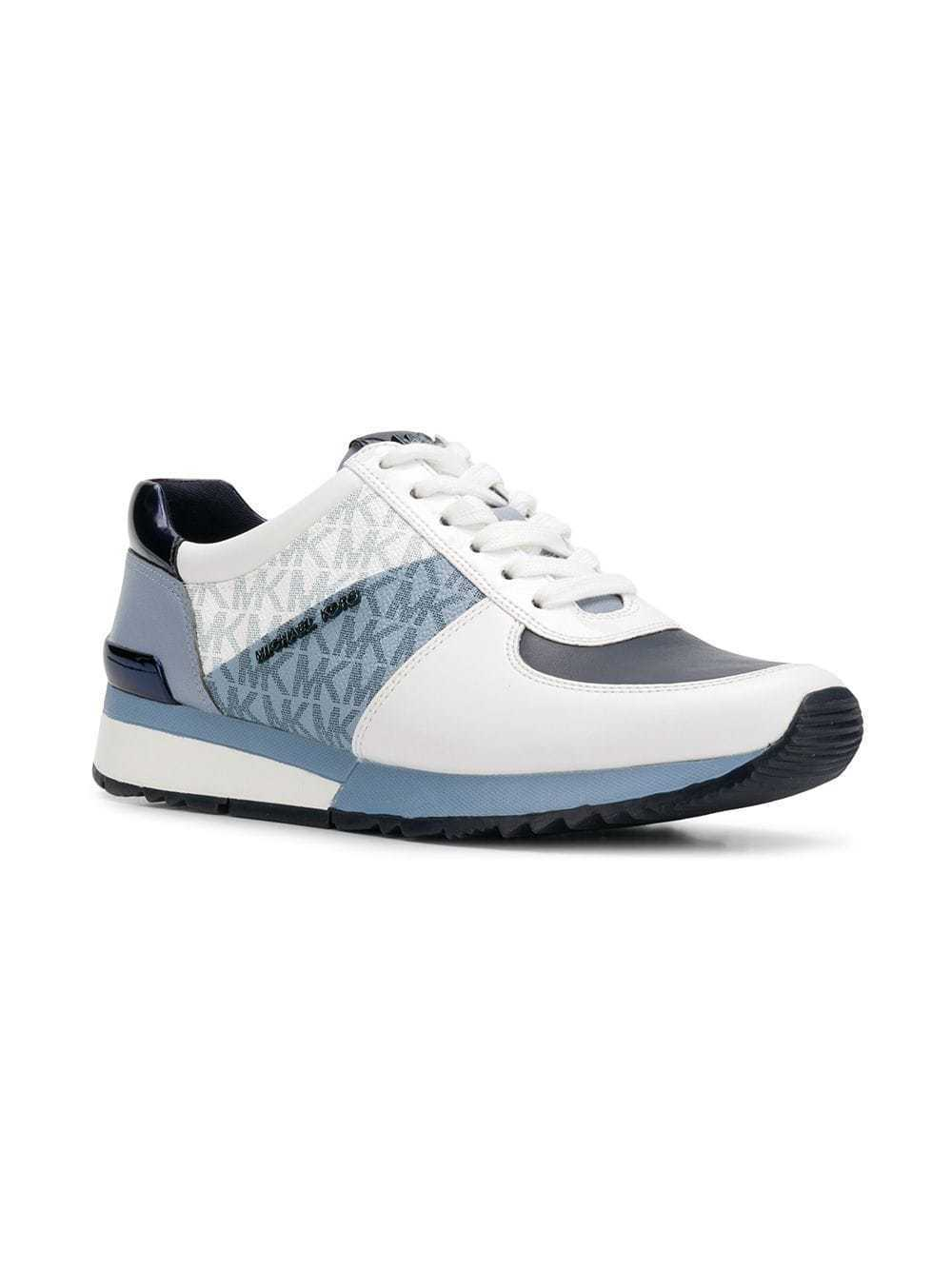 Michael Kors Women's Allie Trainer Mini MK Logo Sneakers Shoes ADM/PLBL/OPW