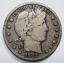 1902S Liberty Barber Head Half Dollar 50¢ Silver Coin Lot 918-1