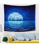 3D Blue Moon Sea P646 Tapestry Hanging Cloth Hang Wallpaper Mural Photo Zoe - $10.55+