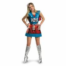 Disguise The Simpsons Duffwoman Bier Deluxe Adult Damen Halloween Kostüm... - $46.93