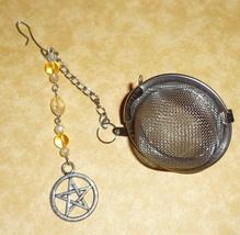 Pentagram Citrine Gemstone  Tea Infuser / Tea Strainer / Tea Steeper - $11.50