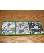 Xbox One Lot of 3 Games Madden NFL 16 17 18 - $8.86