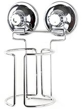 PowerLock Hair Dryer Stand with Suction Cups, Stainless Steel, Chrome plating (S