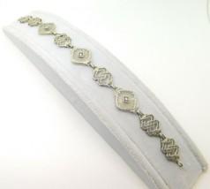 10k Gold Filigree / Art Deco Genuine Natural Camphor Bracelet w/Diamonds... - $760.75