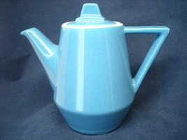 Vintage Hall China Pottery Amtrak National Blue Coffee Pot Dining Car Train - $38.61