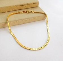 "Vintage Korea Skinny Classic Gold Tone Link 7.25"" Chain Bracelet M39 - $12.74"