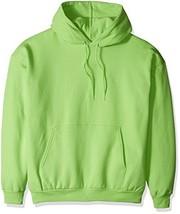 Hanes Men's Pullover EcoSmart Fleece Hooded Sweatshirt lime X Large - $22.35