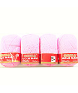 ( BABY PINK COLOUR ) HAND KNITTING YARN 100 GM X 4 PACK  FINE QUALITY - $21.63