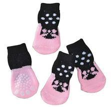 Black Temptation [G] 8 Pcs Lovely Knit Dog Socks Cat Socks Pet Knitted S... - £11.73 GBP