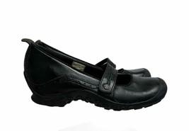 Merrell Leather Slip On Mary Janes Plaza Bandeau Comfort Size 39 8 US Black - $18.39