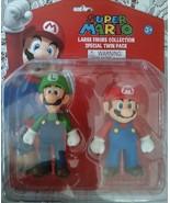 Super Mario Large Figure Collection Special Twin Pack - Mario Luigi Cake... - $19.59