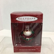 2000 Lil Roly Poly Santa Glass Hallmark Christmas Tree Ornament MIB Price Tag H2 - $12.38
