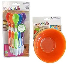 Munchkin 5 Pack Bowl and 6 Pack Spoon Set for baby/toddler - $326,35 MXN
