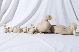 Vtg Farm Pond Resin Duck Family of 10 (2 Adult, 8 Ducklings) Giannetto F... - $122.51