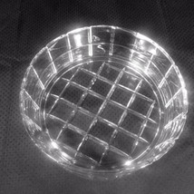 "Clear Crystal Glass Bowl Impressed Squares Checkered Pattern 6.5"" x 2.25"" - $24.99"