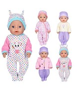 ebuddy 7 Pcs Doll Clothes with Hat and Coat for 43cm New Born Baby Dolls... - $22.77