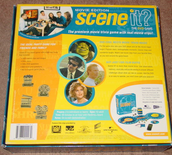 SCENE IT DVD GAME MOVIE EDITION GAME 2004 SCREENLIFE LIGHTLY PLAYED CONDITION image 3