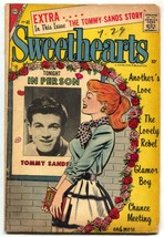 Swethearts #40 1957- TOMMY SANDS- Charlton Romance VG- - $50.44