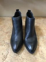 Fergie Women's Black Leather Ankle Boots, 8.5 - $99.99