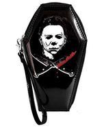 Halloween Michael Myers Crossed Knives Zip Around Coffin Wallet - $31.31