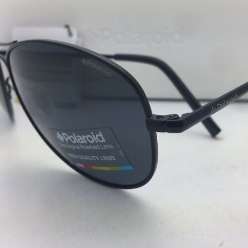 POLAROID Sunglasses PLD 1004/S 003 C3 61-15 Black Aviator Grey Polarized Lenses