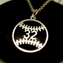 Personalized Number Baseball Mom Necklace - $42.00