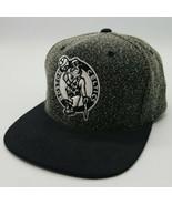 Boston Celtics NBA Mitchell & Ness Snapback Hat Black White Very Clean N... - $39.48