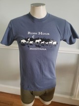 Montana Moose Rocky Mountains Big Sky Country Adult Small T-Shirt Rush Hour - $11.29