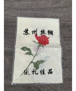 Chinese Anyique Embroidery Rose Kerchief Table Cloth BHS - $39.71