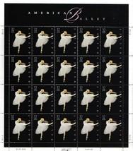 USPS American Ballet Sheet of Twenty 32 Cent Stamps Scott 3237 - $11.38