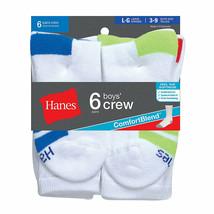 Hanes Boys' Crew ComfortBlendreg; Assorted Socks 6-Pack - $12.55+