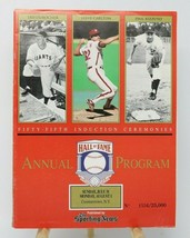 1994 Hall of Fame Fifty-Fifthh Annual Baseball Program Numbered - $9.87