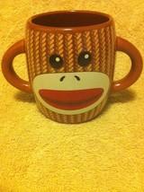 GALERIE--SOCK MONKEY--COFFEE CUP / MUG--DOUBLE HANDLE----FREE SHIP--VGC - $14.38
