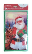 6 Christmas Money Gift Card Holders Santa Reindeer Thinking of You - $9.79