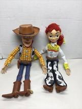"""Disney Pixar Talking Woody & Jessie Toy Story Pull String 14"""" Figure Dol... - $29.44"""