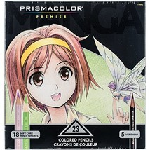 Prismacolor 1774800 Premier Colored Pencils, Manga Colors, 23-Count - $20.12
