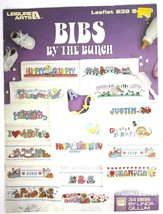 Vintage 1990 Leisure Arts Cross Stitch Book Baby Bibs By The Bunch Linda... - $12.62