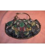Vintage Georgiou Studio Black Sequins Beads Butterflies Evening Bag Purse - $64.35