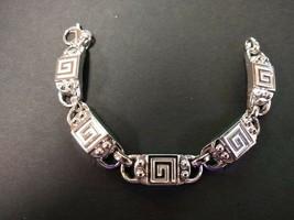 Charsinsky 18k White Gold Sterling Silver Link Bracelet 33.7Grams MSRP $375 - $140.25