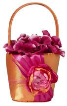 Hot Pink & Orange Flower Basket Flower Girl basket wedding basket - $16.98