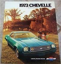 1973 Chevy Chevelle Malibu Laguna Owners Sales Brochure Part Service - $24.99