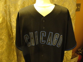 MLB Chicago Cubs pitch black X-Large Jersey shirt. New with tags 100% polyester - $75.99