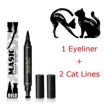 Quick Dry Makeup Eyeliner Waterproof Eyeliner Pen With Stamp+2Pcs Eye Ca... - $9.25+