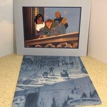 VINTAGE WALT DISNEY LITHO POSTER PICTURE POSTER LITHOGRAPH HUNCHBACK NOT... - $24.49