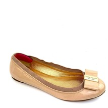 """KATE SPADE NY """"Tock'  Nude Patent Leather Slip On Logo Bow Flats Women's Size 6 - $34.64"""