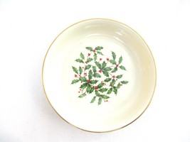 "Lenox Bone China Special Holly & Berry 7 ½"" Serving Bowl - $41.25"