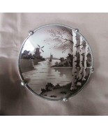 "Vintage Silvers Co. Brooklyn NY (Bridge Mark) 6"" Porcelain Trivet, Hairline - $9.49"