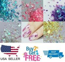 Irregular ✨ Holographic Glitter Multi Colors Nail Glitter Art Acrylic Gel - $0.99+